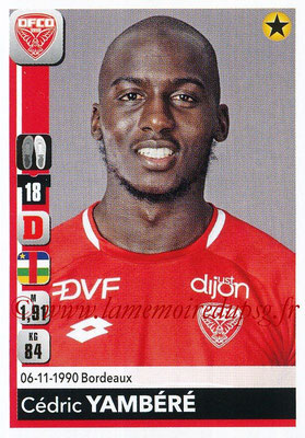 2018-19 - Panini Ligue 1 Stickers - N° 109 - Cédric YAMBERE (Dijon)
