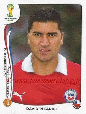2014 - Panini FIFA World Cup Brazil Stickers - N° 156 - David PIZARRO (Chili)