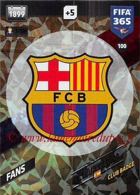 2017-18 - Panini FIFA 365 Cards - N° 100 - Logo FC Barcelone (Club Badge)