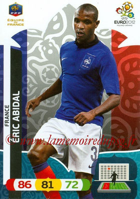 Panini Euro 2012 Cards Adrenalyn XL - N° 078 - Éric ABIDAL (France)