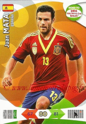 2014 - Panini Road to FIFA World Cup Brazil Adrenalyn XL - N° 085 - Juan MATA (Espagne)