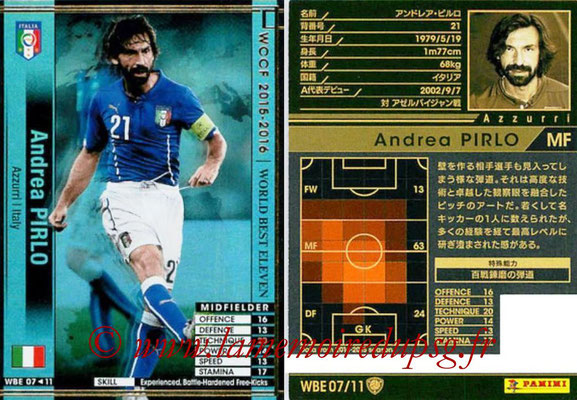 2015-16 - Panini WCCF - N° WBE07 - Andrea PIRLO (Italie) (World Best Eleven)