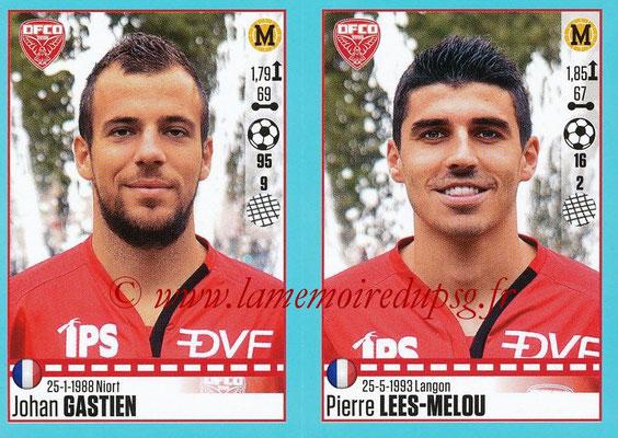 2016-17 - Panini Ligue 1 Stickers - N° 204 + 205 - Johan GASTIEN + Pierre LEES-MELOU (Dijon)