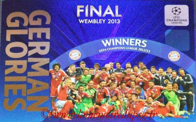 2013-14 - Adrenalyn XL champions League N° GG4 - Winners FC Bayern Munich (Final Wembley 2013) (German Glories)