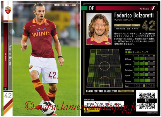 Panini Football League 2013 - PFL01 - N° 038 - Federico Balzaretti ( AS Roma )
