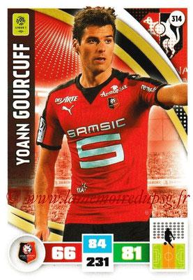 2016-17 - Panini Adrenalyn XL Ligue 1 - N° 314 - Yoann GOURCUFF (Rennes)