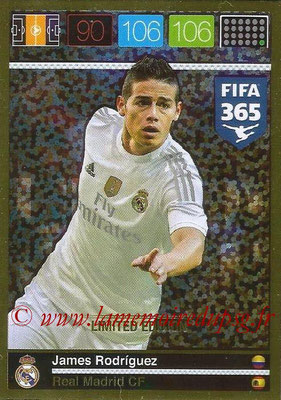 2015-16 - Panini Adrenalyn XL FIFA 365 - N° LE-JR - James RODRIGUEZ (Real Madrid CF) (Limited Edition)
