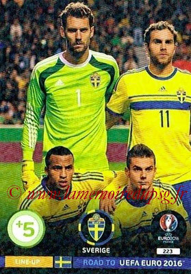 Panini Road to Euro 2016 Cards - N° 223 - Equipe Suède 1