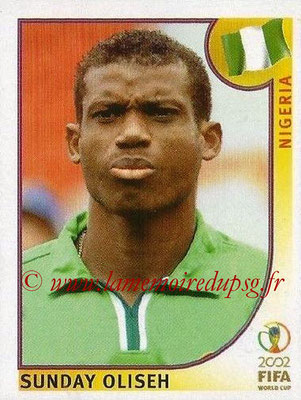 2002 - Panini FIFA World Cup Stickers - N° 412 - Sunday OLISEH (Nigéria)