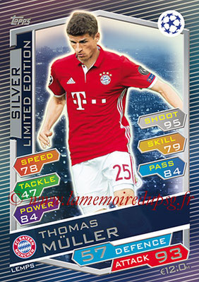 2016-17 - Topps UEFA Champions League Match Attax - N° LEMPS - Thomas MULLER (FC Bayern Munich) (Limited Edition Silver)