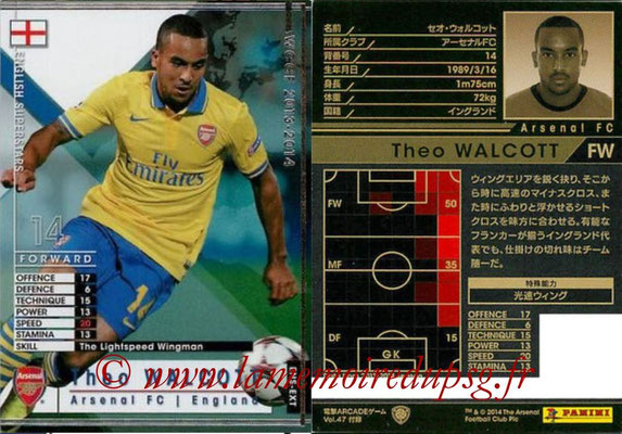 2013-14 - WCCF - N° ENS-EXT - Theo WALCOTT (Angleterre) (English Superstars) (Extra)