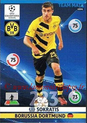 2014-15 - Adrenalyn XL champions League Update edition N° UE041 - SOKRATIS (Borussia Dortmund)