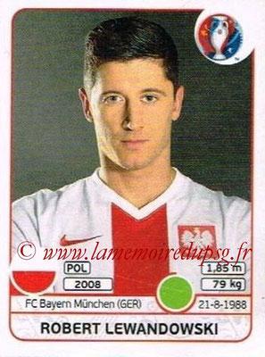 Panini Euro 2016 Stickers - N° 312 - Robert LEWANDOWSKI (Pologne)