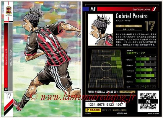 Panini Football League 2014 - PFL04E - N° 014 - Gabriel Pereira (East Tokyo United)