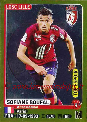 2015-16 - Panini Ligue 1 Stickers - N° 163 - Sofiane BOUFAL (Lille OSC) (Top espoir)