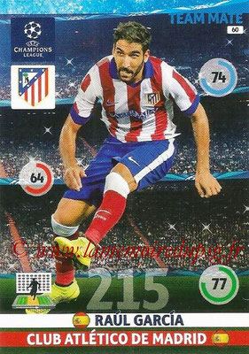 2014-15 - Adrenalyn XL champions League N° 060 - Raul GARCIA (Atletico Madrid)