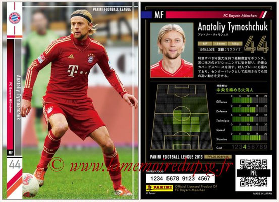 Panini Football League 2013 - PFL03 - N° 094 - Anatoliy Tymoshchuk (Bayern Munich)