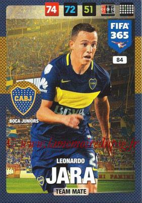2016-17 - Panini Adrenalyn XL FIFA 365 - N° 084 - Leonardo JARA (CA Boca Junior)