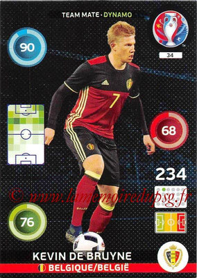 Panini Euro 2016 Cards - N° 034 - Kevin DE BRUYNE (Belgique) (Dynamo)