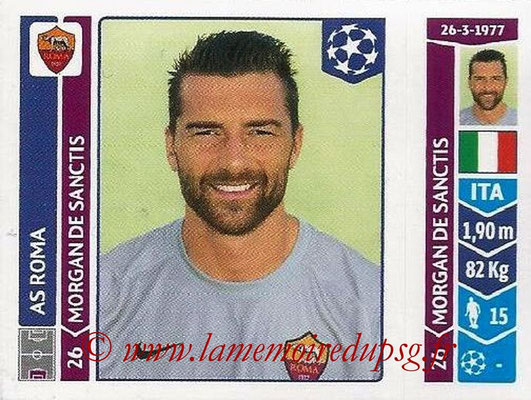 2014-15 - Panini Champions League N° 399 - Morgan DE SANCTIS (AS Rome)