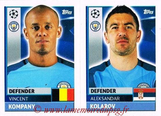 2016-17 - Topps UEFA Champions League Stickers - N° QFG 5-6 - Aleksandar KOLAROV + Vincent KOMPANY (Manchester City FC)