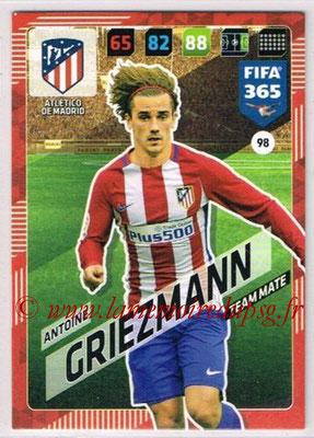 2017-18 - Panini FIFA 365 Cards - N° 098 - Antoine GRIEZMANN (Atletico Madrid)