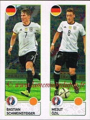 Panini Euro 2016 Stickers - N° 265 - Bastian SCHWEINSTEIGER + Mesut ÖZIL (Allemagne)