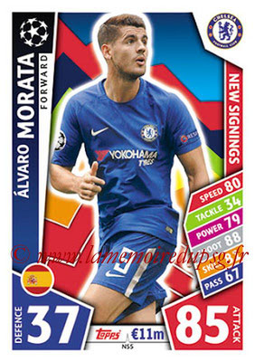 2017-18 - Topps UEFA Champions League Match Attax - N° NS05 - Alvaro MORATA (Chelsea FC) (New Signings)
