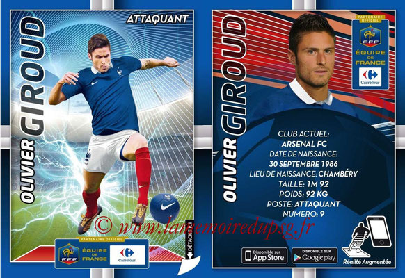 WC 2014 Collection Carrefour 3D Bleus - N° 18 - Olivier GIROUD (Arsenal FC)