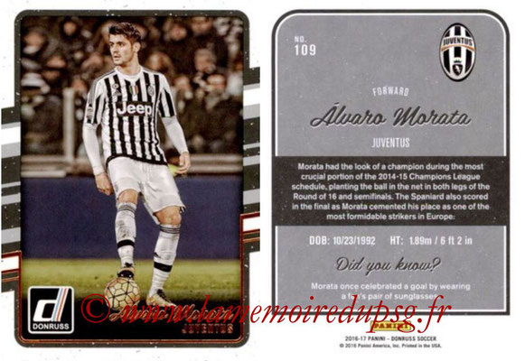 2016 - Panini Donruss Cards - N° 109 - Alvaro MORATA (Juventus FC)