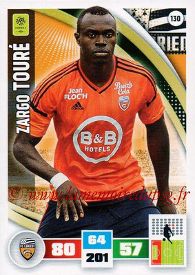 2016-17 - Panini Adrenalyn XL Ligue 1 - N° 130 - Zargo TOURE (Lorient)