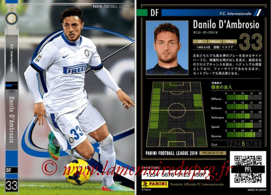 Panini Football League 2014 - PFL08 - N° 017 - Danilo D'AMBROSIO (Inter) (Star)