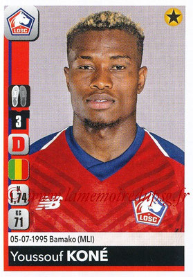 2018-19 - Panini Ligue 1 Stickers - N° 158 - Youssouf KONE (Lille)