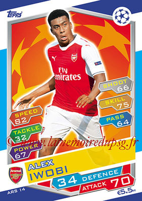 2016-17 - Topps UEFA Champions League Match Attax - N° ARS14 - Alex IWOBI (Arsenal FC)