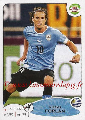 2014 - Panini Road to FIFA World Cup Brazil Stickers - N° 087 - Diego FORLAN (Uruguay)