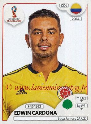 2018 - Panini FIFA World Cup Russia Stickers - N° 649 - Edwin CARDONA (Colombie)
