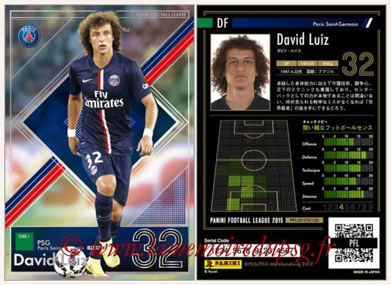 Panini Football League 2015 - PFL09 - N° 070 - David LUIZ (Paris Saint-Germain)