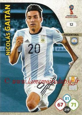 2018 - Panini FIFA World Cup Russia Adrenalyn XL - N° 012 - Nicolas GAITAN (Argentine)