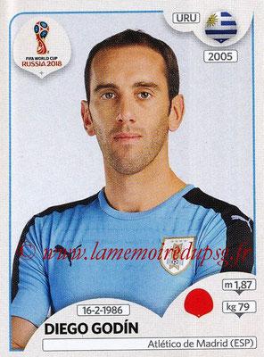 2018 - Panini FIFA World Cup Russia Stickers - N° 096 - Diego GODIN (Uruguay)