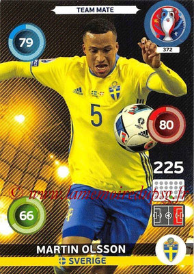 Panini Euro 2016 Cards - N° 372 - Martin OLSSON (Suède)
