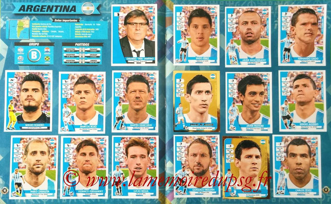 Navarette Copa America Chile 2015 Stickers - Pages 16 et 17 - Argentine