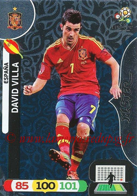 Panini Euro 2012 Cards Adrenalyn XL - N° 285 - David VILLA (Espagne) (Master)