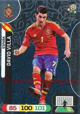 Panini Euro 2012 Cards Adrenalyn XL - N° 285 - David VILLA (Espagne) (Master)