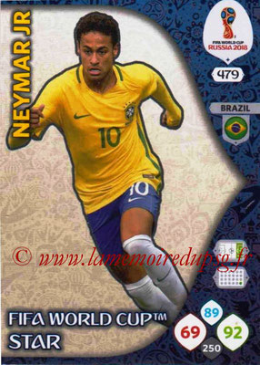 2018 - Panini FIFA World Cup Russia Adrenalyn XL - N° 479 - NEYMAR Jr. (Bresil) (FIFA World Cup Star) (Nordic Edition)