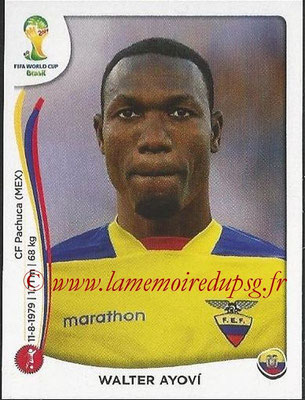 2014 - Panini FIFA World Cup Brazil Stickers - N° 358 - Walter AYOVI (Equateur)