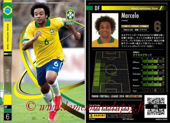 Panini Football League 2014 - PFL07P - N° 001 - MARCELO (Brésil) (Star)