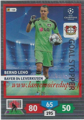 2013-14 - Adrenalyn XL champions League N° 320 - Bernd LENO (Bayer 04 Leverkusen) (Goal Stopper)