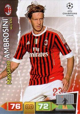 2011-12 - Panini Champions League Cards - N° 163 - Massimo AMBROSINI (Milan AC)