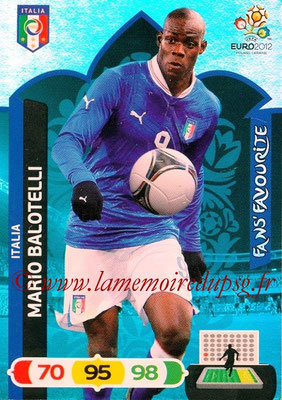 Panini Euro 2012 Cards Adrenalyn XL - N° 260 - Mario BALOTELLI (Italie) (Fans' Favourite)