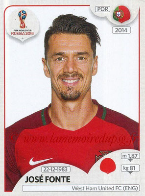 2018 - Panini FIFA World Cup Russia Stickers - N° 117 - José FONTE (Portugal)